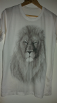 'Lion' monochrome / greyscale full print tee